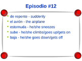 Cuéntame Episodio #12 Vocabulary