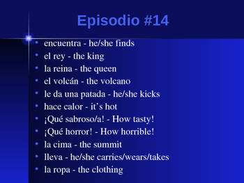 Cuéntame Episodio #14 Vocabulary
