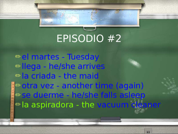 Cuéntame Episodio #2 Vocabulary