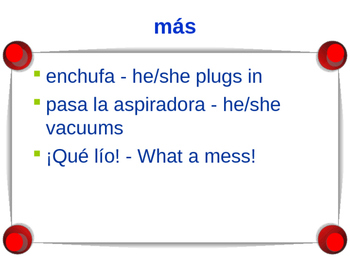 Cuéntame Episodio #3 Vocabulary