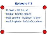 Cuéntame Episodio #3 Vocabulary