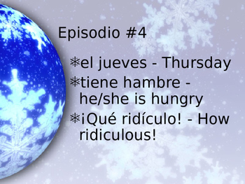 Cuéntame Episodio #4 Vocabulary