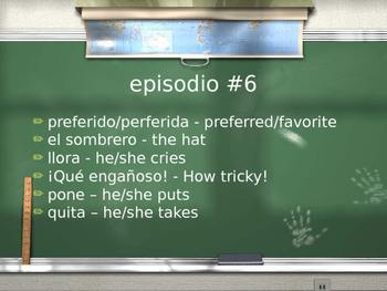 Cuéntame Episodio #6 Vocabulary