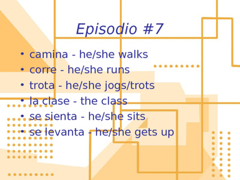 Cuéntame Episodio #7 Vocabulary