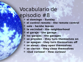Cuéntame Episodio #8 Vocabulary