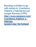 Cuentame Folklore y Fabulas Reading activities
