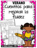 Cuentitos de verano para mejorar la fluidez ¡En español! -