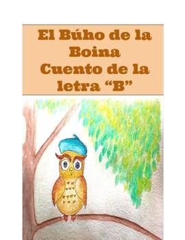 """Cuento de la letra """"B"""" : El Buho de la boina azul"""