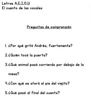Vowels in Spanish, Las Vocales