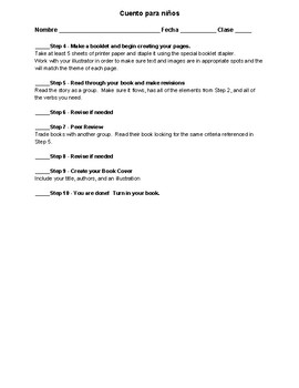 Cuento para niños - Write a children's story template
