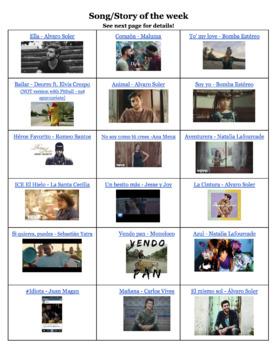Cuento y Canción de la Semana (Story and Song of the Week)