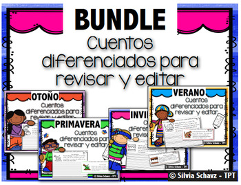 Cuentos diferenciados para revisar y editar - BUNDLE