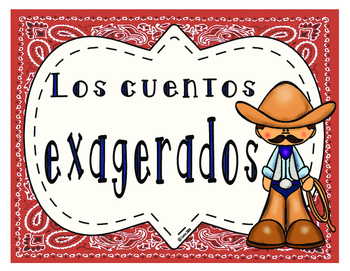 Cuentos exagerados (Tall Tales Genre Posters- Spanish)