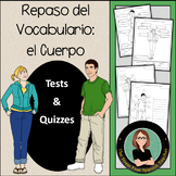 Cuerpo / Body, Spanish Vocabulary - 4 Quizzes (or worksheets for practice)