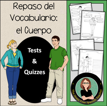 Cuerpo / Body, Spanish Vocabulary - 4 Quizzes (or workshee