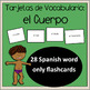 Cuerpo  / Body, Spanish Vocabulary Flashcards, Tarjetas de Vocabulario