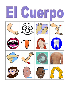 Cuerpo (Body in Spanish) Bingo