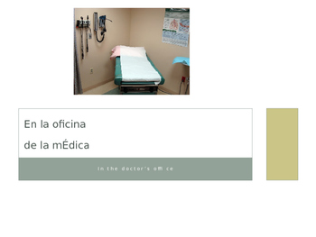 Cuerpo / Salud (Body Health Spanish) - Symptoms & Going to Doctor's Office