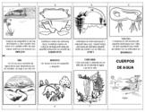 CUERPOS DE AGUA - Librito plegable - BODIES OF WATER