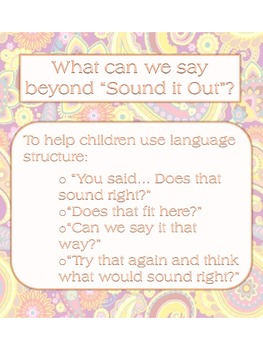 Cues/ Prompts to use during Guided Reading