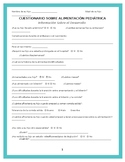 Cuestionario de la Alimentación Pediatrica