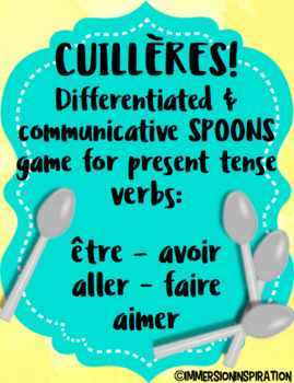 Cuillères Spoons Game for Common French Verbs
