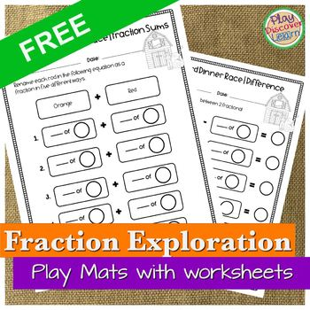 PDL's Barnyard Fraction Race Game for Cuisenaire® Rods