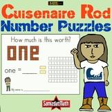 Cuisenaire Rod Base Ten Number Puzzles - Language Arts + Math!