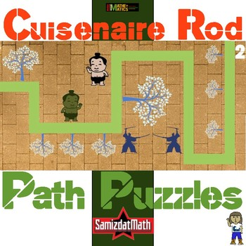 Cuisenaire Rod Path Puzzles: 9 different, great for spatial reasoning, no cutesy