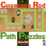 Cuisenaire Rod Path Puzzles: 9 different, great for spatia