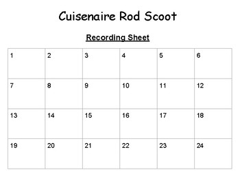 Cuisenaire Rod Scoot