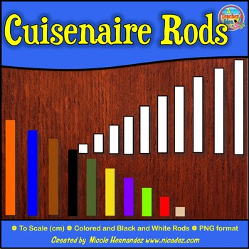 Cuisenaire Rods Clip Art for Commercial Use