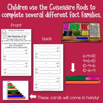 Fact Families With Cuisenaire Rods