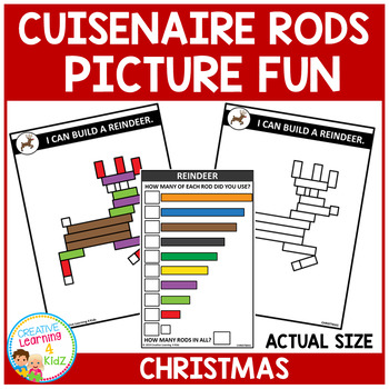 Cuisenaire Rods Picture Fun: Christmas