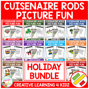Cuisenaire Rods Picture Fun: Holiday Bundle