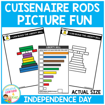 Cuisenaire Rods Picture Fun: Independence Day