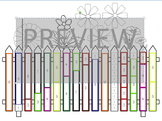 "Cuisenaire Rods ""Ways to 10"" Flower Fence"