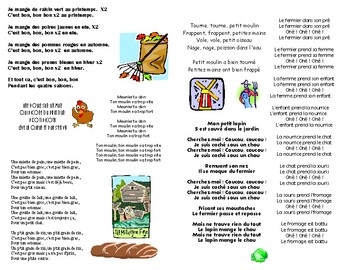 Cuisine and Food Songbook in FRENCH
