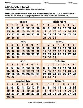 ¿Cuál es la fecha de hoy? Spanish Complete LP, Worksheets & Assessment
