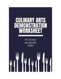 Culinary Arts Demonstration Worksheet