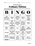 Culinary- Find Someone Who Bingo