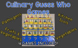 Culinary Guess Who Game Pieces- Includes 4 Versions of the Game