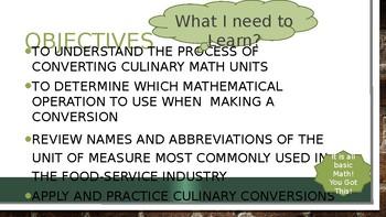 Culinary Math Conversions