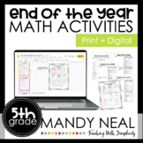 Culminating Activities for the Fifth Grade Common Core Standards