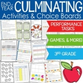 Culminating Math Activities AND Choice Boards Distance Learning
