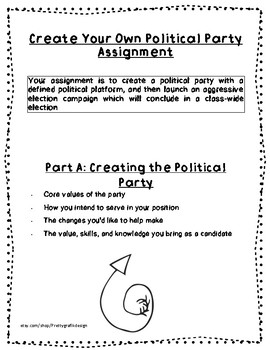 Culminating Political Party Assignment-School Council