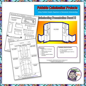Culminating Presentation Boards using Multiple Foldables