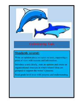 Culminating Task, Sharks, Dolphins, Graphic Organizers, Text Evidence