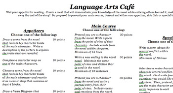 Culminating activity for any novel!  Students choose their