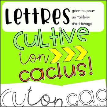 Cultive ton cactus! - Activités et affiches sur la pensée positive
